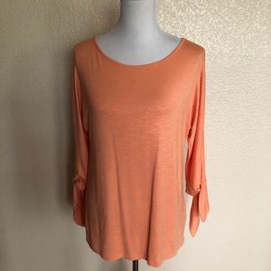 Soft Surroundings Tie Sleeve Knit Top XS NWOT